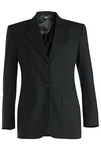 Women's Pinstripe Wool Blend Suit Coat