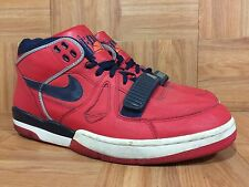 VTG🔥 Nike Air Alpha Force II Sport Red College Navy Pearl Gray Sz 12 307718-641