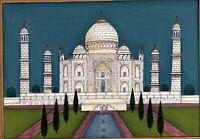 Tomb of Mughal Emperor Shahjahan and Mumtaz mahal The Taj-Mahal painting