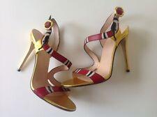 Gucci Leather Snake Sandal Size 37/US7. Oro Vecchio