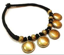 Tribal Banjara Tibetan Necklace Brass Choker Beads Handmade Ethnic Christmas