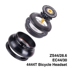 "CNC Bicycle Headset 44mm 1 1/8""-1 1/2"" Straight Tube Frame to Tapered Tube Fork"