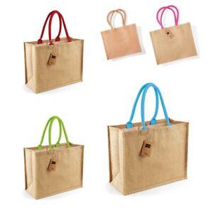WESTFORD MILL Jutetasche Jute Classic Shopper viele Farben Tasche W407 NEU