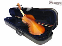 Euro Style 4/4 Solid Wood/Ebony Violin/Bow/Rosin/Case/String Set/Shoulder Rest