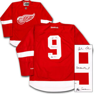 Matthew Broderick , Alan Ruck & Mia Sara Autographed Detroit Red Wings Jersey