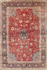 Vintage Traditional Floral Faded Color Hand-Knotted 8x12 Area Rug