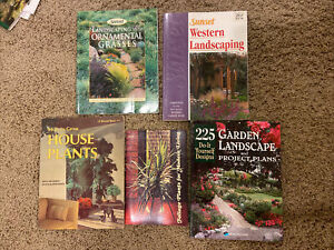 How to Grow House Plants 1969 Ed. + Foliage Plants + Western Landscaping Books