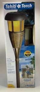 Solar Outdoor Tahiti Tiki Lights LED Landscape/Path Lighting Tiki Torch