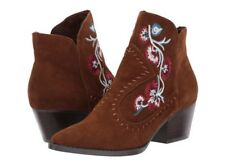 Carlos By Carlos Santana Vivien Embroidered Western Booties- Bourbon- Size 7.5