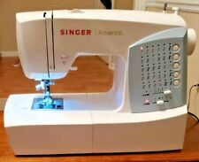 Singer Advance 7422 Sewing Machine with pedal.