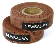 2-Rolls Newbaums Cotton Cloth Road Bike Handlebar Bar Tape Wrap Newbaum's BROWN