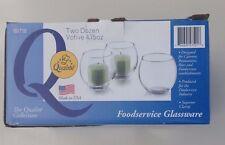 Qualite  made in usa Glassware 4.75 Oz Glass Votive two dozen The