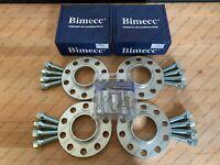 2x12mm + 2x15mm Silver Alloy Wheel Spacers + Bolts & Locks BMW F30 F31 F32 F33