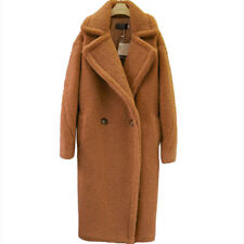 New Luxury Womens Teddy Bear Feel Oversized Faux Fur Long Casual Coat Magic