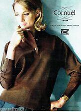 PUBLICITE ADVERTISING 106  1962  Cornuel tricots pure laine peignée Mérinos