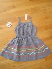 Girl GYMBOREE MULTICOLOR EMBROIDERED BLUE CHAMBRAY DRESS & HAIR PINS SET NWT 7