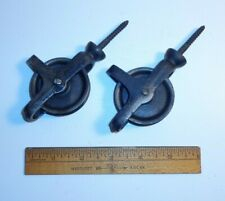 Antique Ceiling Screw-Mount Pulley.Matched Pair.For Plants Or Other Hanging