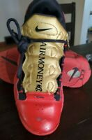 Nike Air Money sneakers shoes  Boys size 6y red/gold athletic shoes