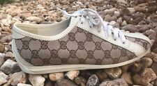 Women's Gucci Casual Logo Sneakers Beige/Brown Size 9B