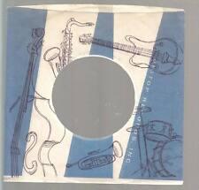 Company Sleeve 45 BIG TOP White & Blue w/ Black Instrument Pattern on