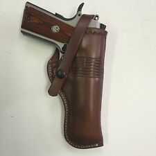 "Fits Colt 1911 5"",Springfield,RIA,Ruger,Kimber 45ACP Right Hand Leather Holster"