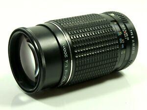 Asahi SMC Pentax M 200mm f4 Telephoto Prime Camera Lens K PK Mount. caps, filter