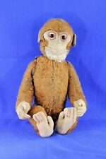 Vintage Schuco Mohair Yes No Monkey With Glass Eyes And Felt Features