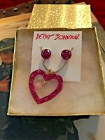 BETSEY JOHNSON  NECKLACE AND EARRINGS SET BOUGHT AND SOLD IN USA