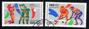 GERMANIA BERLINO BERLIN  FRANCOBOLLI PRO SPORT 1989 timbrato (BB765)