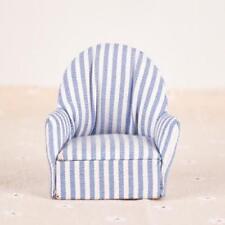 1:12 Dollhouse Miniature Furniture Sofa Chair Living Room Navy Stripe Sofa
