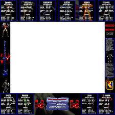 Killer Instinct Arcade Moves List Bezel Panel Artwork CPO KI Midway Midway
