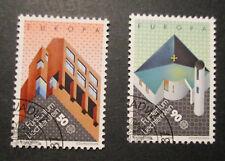 Liechtenstein Michel-Nr. 916-917 o gestempelt - Moderne Architektur 1987