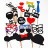 Photo Booth Selfie Props Moustache on Stick Weddings Christmas Birthday Party