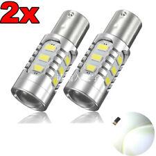 2Pcs 12-24V 1156 BA15s P21W 15 LED SMD Lampe Ampoule 6500K Canbus No Error Auto