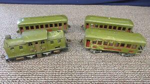 Lionel 254 Train 610 612 Passenger Cars Pressed Steel Pullman Observation O
