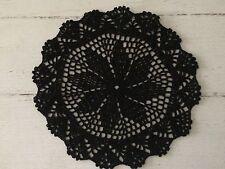 25 Cm Black Crochet Lace Doily