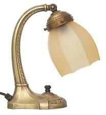 Selten original Jugendstil Art Déco Klavierleuchte Nachttisch Lampe Messing 1910