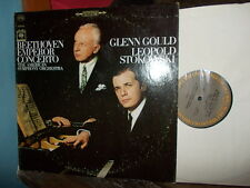"BEETHOVEN: Piano concerto n°5 ""Emperor""  Gould Stokowski / CBS MS stereo USA"