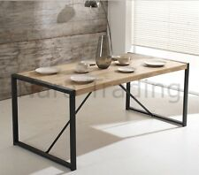 Harbour Indian Reclaimed Wood And Metal Furniture Large Dining Table