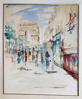 artiste inconnu ? à découvrir signature illisible ? gouache Arc Paris Mode