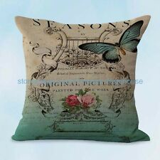 US SELLER, seat cushion cover vintage butterfly cushion cover