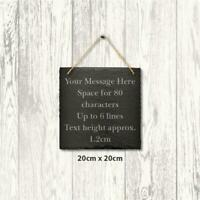 Large Personalised Slate Plaque Engraved Message Sign Home Wedding 20cm Square