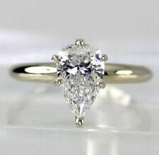 Anillos de joyería con diamantes brillantes de oro de oro blanco