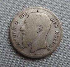 BELGIQUE 50 centimes Léopold II 1899 argent silver ref027