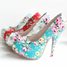 High (3 in. to 4.5 in.) Floral Heels for Women