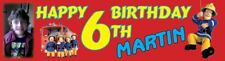 Fireman Sam Birthday Party Themed Personalised Banner With Photo - just ask??