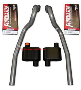 86-04 Ford Mustang GT 4.6 5.0 Exhaust System w/ Flowmaster Super 10 Mufflers