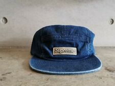 Supreme Metal Plate Logo Camp Cap - Blue