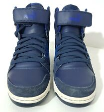 PUMA REBOUND Men's Blue White High Top Trainers Sneakers Size UK9 EUR 43 US 10