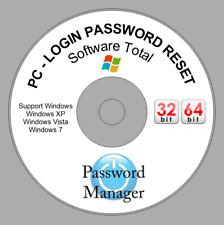 "Windows Password Recovery Reset & bypass CD Windows XP, VISTA, 7, 8 ""PC LOGIN"""
